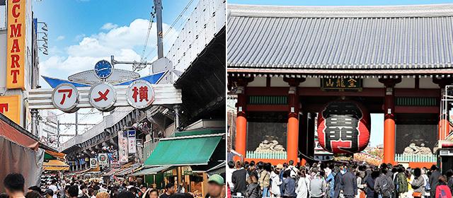 上野・御徒町・浅草エリアの観光スポット情報