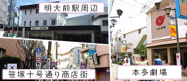 笹塚・明大前・下北沢エリアの観光スポット情報